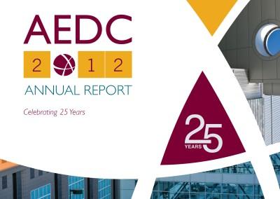 AEDC Annual Report: 2012