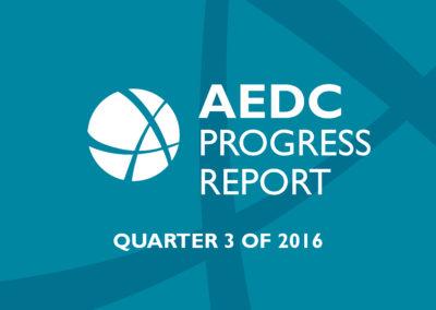 AEDC Progress Report: 2016 Q3