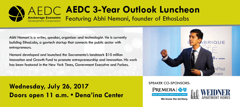 2017 AEDC 3-Year Outlook Luncheon with Keynote Speaker Abhi Nemani