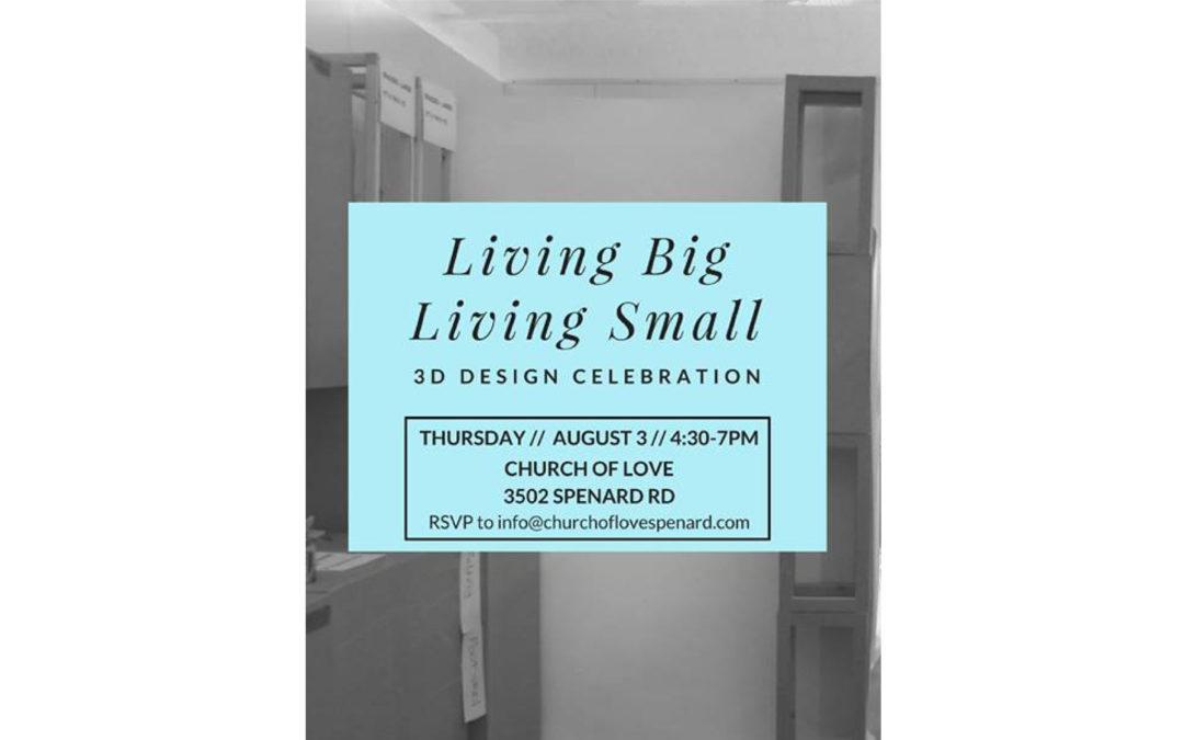 Living Big Living Small 3D design celebration