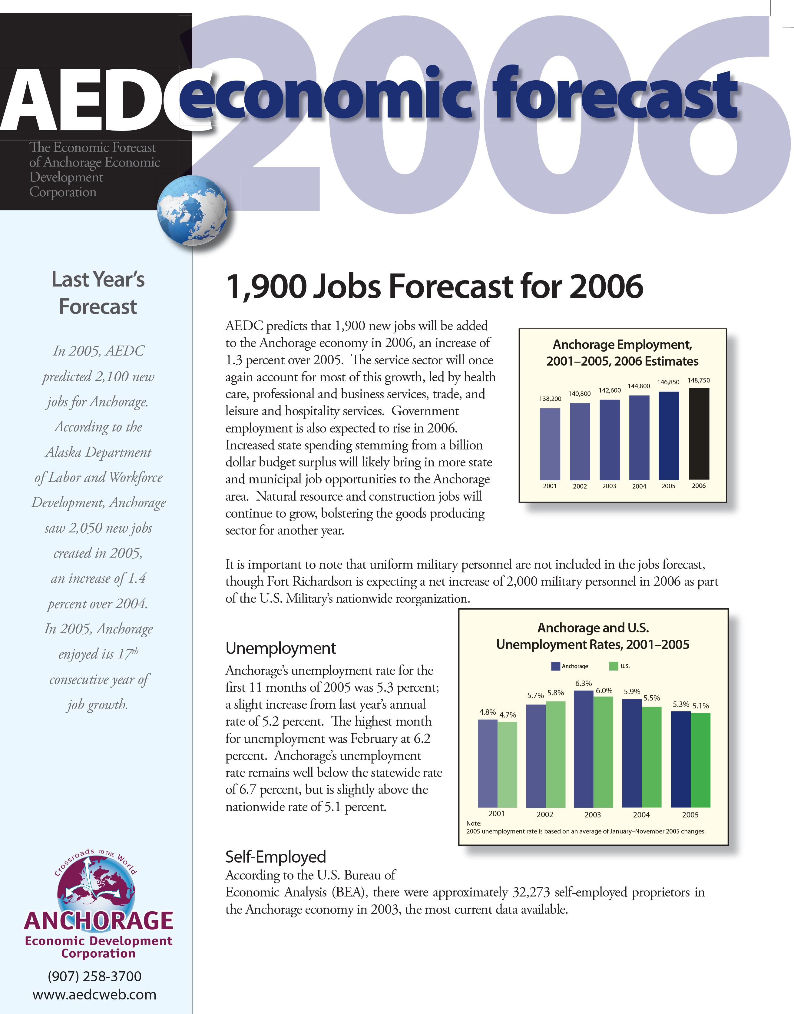 AEDC Economic Forecast Report: 2006