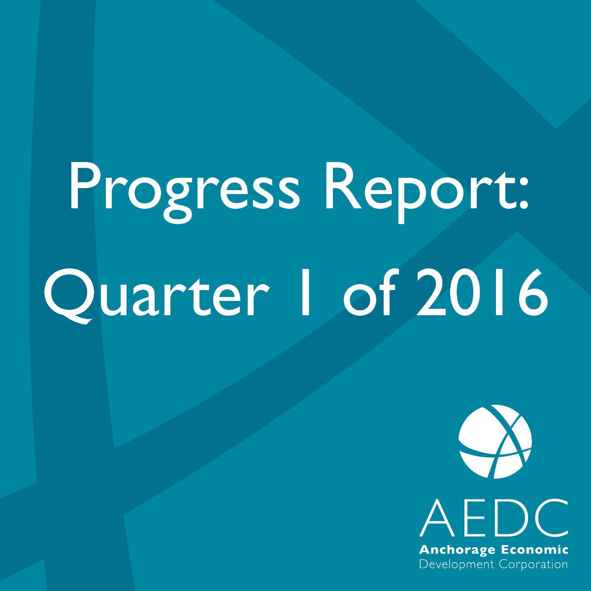 AEDC Progress Report: 2016 Q1