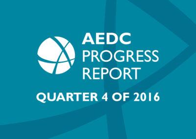 AEDC Progress Report: 2016 Q4